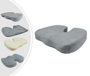 Leogreen - Orthopaedic Seat Cushion, Orthopaedic Coccyx Pillow, Grey, Size