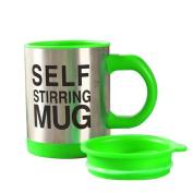 Self-stirring Coffee Mug, 350ML Auto Mixing Coffee Cup Stainless Lazy Self Stirring Mug Travel Camping Portable Mug