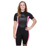 U.S. Divers Women's Shorty Wetsuit - Black/Pink - Small