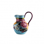Glass pitcher,Heat-resistant Ceramics Water carafe Household use Milk juice pot Hand-painted [retro]-B