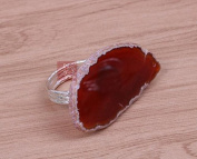 Agate Stone napkin Ring, hotel home napkin buckle, colourful napkin ring ,2pcs , 5