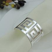 12pcs Western buckle metal napkin ring napkin ring , silver/gold , white