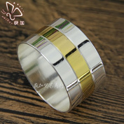 12Pcs -Stainless steel napkin buckle gold napkin ring silver kitchen tableware , v42 gold