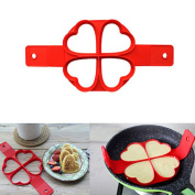 Pancakes Mould Silicone Fried Egg Ring Mould Creative Cake Shaper DIY Baking Tool for Christmas Party