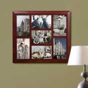 Homebeez 7 Slot Square Wood Picture Frame