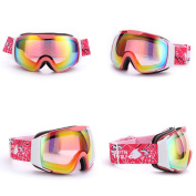 SehrGo Double Lens Anti-fog Snow Goggles Ski Goggles Eyewear, Lightweight Windproof Comfortable, for Snow, Skiing, Snowboarding