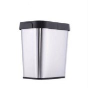 GAOLILI Trash Home Living Room Kitchen Bedroom Bathroom Toilet Stainless Steel Uncoated Trash Can Dustbins
