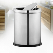 GAOLILI Stainless Steel Shaking Hands By Trash Canopy Flip Home Kitchen Bathroom Toilet Bedroom Dustbins