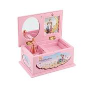 Qiyun Music Box Cartoon Pink Plastic Music Box Carousel Box Home Decoration Children Jewellery Box Christmas Gift
