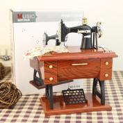 Qiyun Music box Vintage Simulation Sewing Machine Music Box Retro Treadle Sartorius Decoration as Gifts