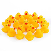 timeracing 20 Pcs Cute Squeaky Ducks Baby Kids Children Water Bathing Beach Fun Toys