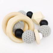Best for baby Wooden Teething Baby Bracelet Wooden Beads Teething Toys Handmade Baby Teething Gift Sensory toys Cradle toys