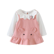 Fulltime Baby Tracksuit, (TM) 2Pcs Toddler Baby Girls Soft Solid Tops +Dress Outfits