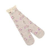 Vovotrade Baby Girls Fashion Lace Floral Print Boot Socks Kids Winter Warm Knee High Socks