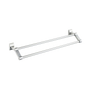 Space Aluminium Wall Mounted Double Towel Holder Towel Rail For Bathroom Kitchen And Bedroom 60cm