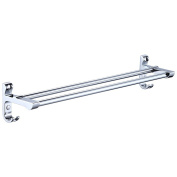 Stainless Steel Wall Mounted Double Towel Holder Towel Rail For Bathroom Kitchen And Bedroom 60cm