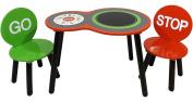 Kidsaw Ltd Kidsaw, Racing Car Table and Chairs, Wood, Red, 65 x 44 x 49 cm