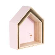 Two shelves home Pink Flamingo