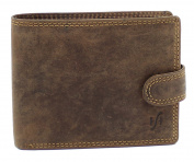 StarHide Men's RFID Blocking High Quality Brown Distressed Hunter Leather Notecase Wallet - Coins & ID Holder Gift Boxed - 710