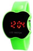 Buycrafty Green Apple Shape Kids Digital LED Wrist Watch Gift for Boys, girls, christmas gift
