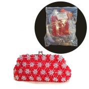 DIY Art & Crafts Beads Bag Kit Bead Handbag Making Supplies Tools And Tutorial With Metal Purse Bag Frame