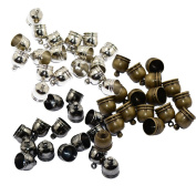 Sharplace Lot 30pcs Brass Necklace End Tip Bead Caps Fit 8mm Cord Jewellery Making Craft