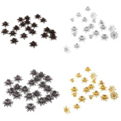 MagiDeal 80 Pieces 16mm Jewellery Bead Caps Jewellery Findings Craft Hollow Flower Shape