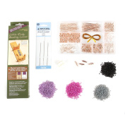 Beads Direct Rose Bracelet Kit with Loom, Other, Pink, 23.5 x 15.5 x 11 cm