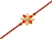 Rakhi Bracelet With Faux Stones Kundan Design For Brother Bhai Celebration Of Rakshabandhan