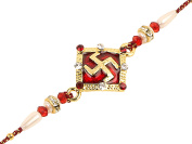 Rakhi Threads For Your Brother Kundan Indian Rakshabandhan Festival, Rakhi Bracelets/ Best Gift Rakhi Bands for Bhaiya