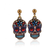 Zhichengbosi Vintage earring Studs Button Skull Shape Earrings Jewellery Piercing Ear Ring