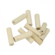 10 wood beads cylinders 30 x 10 mm
