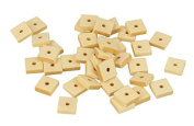 80 square wood beads 10 x 6 mm