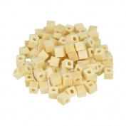 190 square wood beads 5 x 5 mm