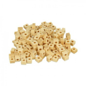 200 square wood beads 5 x 3 mm
