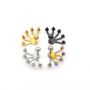 4pcs Cool Punk Rock 3D Claw Earring Unique Cute Ear Stud Body Piercing