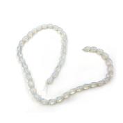 Ecloud Shop® 4 X Strand White Opal Gemstone Opalite Stone Rice Bead 9*6mm