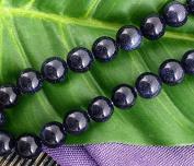 Ecloud Shop® 3X Strand Round Blue Sand Stone Goldstone 8mm Gem Beads