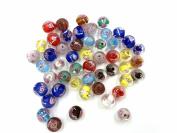Ecloud Shop® 50 Fashion Round Lampwork Murano Glass beautiful Flower Loose Beads 12mm