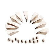 Veroda 10pcs Dragon Claw Spikes Studs for DIY Craft Leathercraft--Matching Screws Included