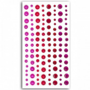 120 fuschia-red pearls