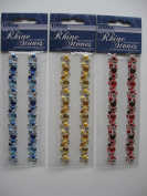 RHINE STONES IN DECORATIVE FORMATION , 3 PACKS SUPPLIED