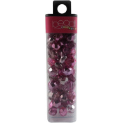 Square Tube Glass Bead Mix 60ml/Pkg-Pink Mirror Mix