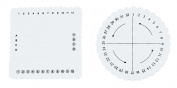 CHIC*MALL 2Pcs Bubble Square Disc Braiding Discs
