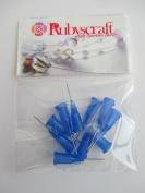 10pcs Royal Blue 22g 1.3cm Lock tip Nozzle for Luer Lock Syringe Craft Glue glaze Ideal for E6000 Bling my shoes Trademark UK00003085705