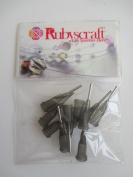 10pcs Dark Grey 16g 1.3cm Lock tip Nozzle for Luer Lock Syringe Craft Glue glaze Ideal for E6000 Bling my shoes Trademark UK00003085705