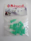 10pcs Jade Green 18g 1.3cm Lock tip Nozzle for Luer Lock Syringe Craft Glue glaze Ideal for E6000 Bling my shoes Trademark UK00003085705
