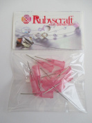 10pcs Light Pink 20g 1.3cm Lock tip Nozzle for Luer Lock Syringe Craft Glue glaze Ideal for E6000 Bling my shoes Trademark UK00003085705
