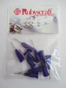10pcs Purple 21g 1.3cm Lock tip Nozzle for Luer Lock Syringe Craft Glue glaze Ideal for E6000 Bling my shoes Trademark UK00003085705