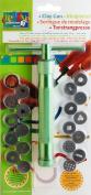 Vaessen Creative Clay Gun with 19 Design Plates, Aluminium Alloy, Green